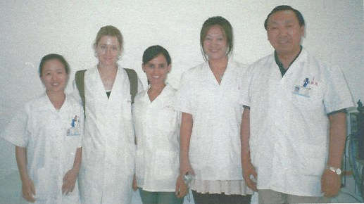 Danielle trained with the master Dr. Shi Xue Min in April, 2007.